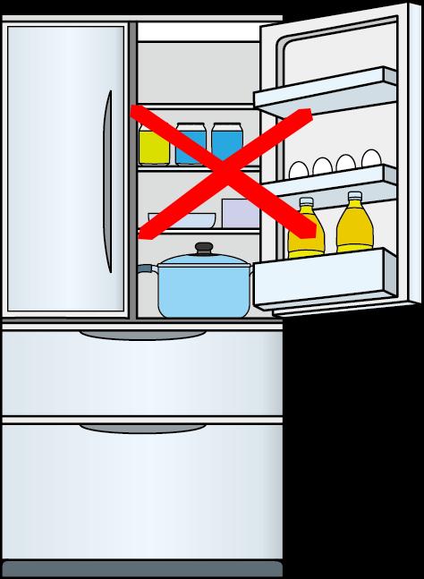 中身の入った冷蔵庫