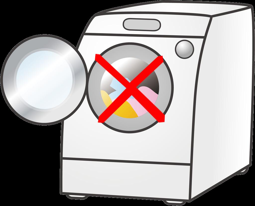 中身の入った洗濯機