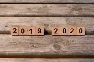 2019から2020へプレート