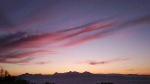 岩山からの夕日
