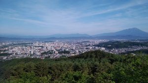 岩山公園から盛岡市内への眺望