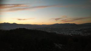 岩山の夕焼け20191209