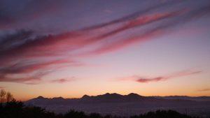 岩山からの夕日20191209