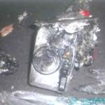 発火原因のデジタルカメラ