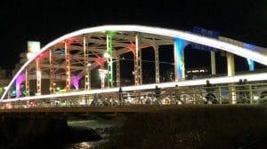 開運橋ライトアップ