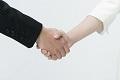 契約成立の握手